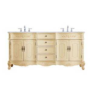 Danville Light Antique Beige 72-Inch Vanity Sink Set