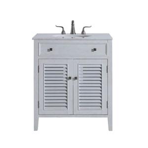 Cape Cod Antique White 30-Inch Vanity Sink Set