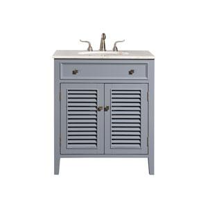 Cape Cod Gray 30-Inch Vanity Sink Set