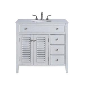 Cape Cod Antique White 36-Inch Vanity Sink Set