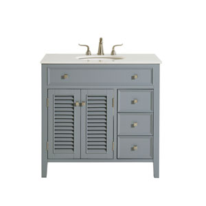 Cape Cod Gray 36-Inch Vanity Sink Set