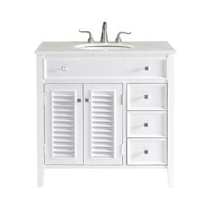 Cape Cod White 36-Inch Vanity Sink Set