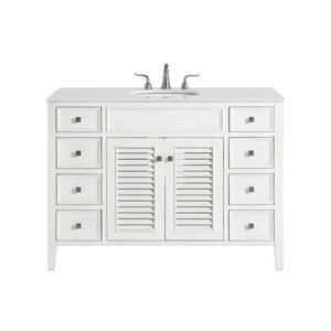 Cape Cod Antique White 48-Inch Vanity Sink Set