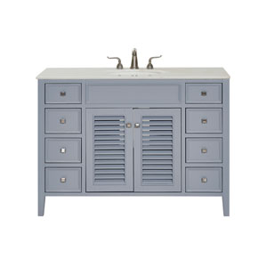 Cape Cod Gray 48-Inch Vanity Sink Set