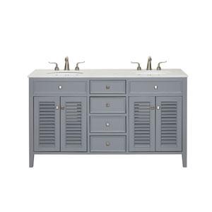 Cape Cod Gray 21-Inch Vanity Sink Set