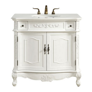 Danville Antique White 36-Inch Vanity Sink Set