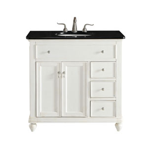 Otto Antique White 36-Inch Vanity Sink Set