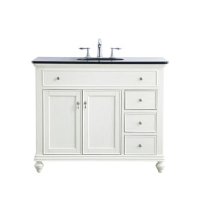 Otto Antique White 42-Inch Vanity Sink Set