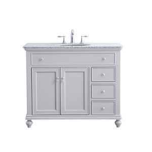Otto Light Gray 42-Inch Vanity Sink Set