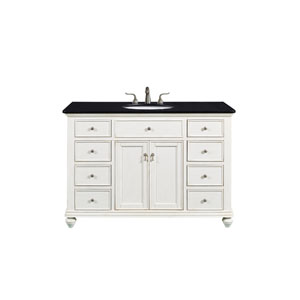 Otto Antique White 48-Inch Vanity Sink Set