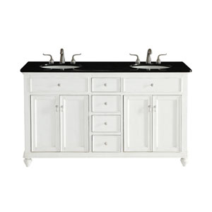 Otto Antique White 60-Inch Vanity Sink Set