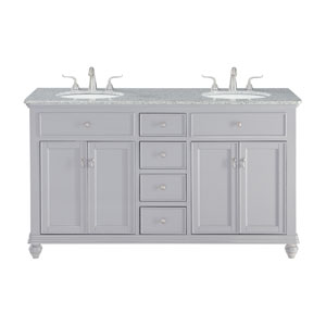 Otto Light Gray 60-Inch Vanity Sink Set