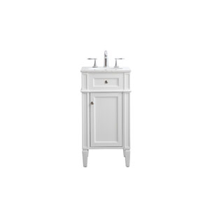 Park Avenue White 18-Inch Vanity Sink Set