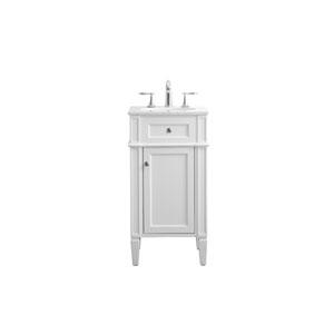 Park Avenue White 18-Inch Vanity Sink Set