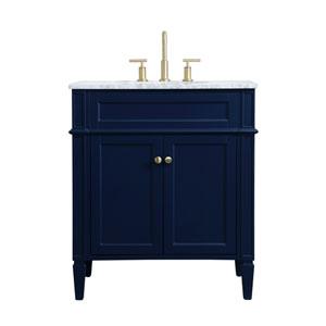 Williams Blue 30-Inch Vanity Sink Set