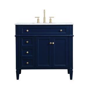 Williams Blue 36-Inch Vanity Sink Set