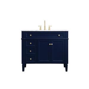 Williams Blue 40-Inch Vanity Sink Set