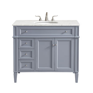 Park Avenue Gray 40-Inch Vanity Sink Set