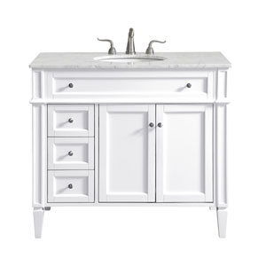 Park Avenue White 40-Inch Vanity Sink Set