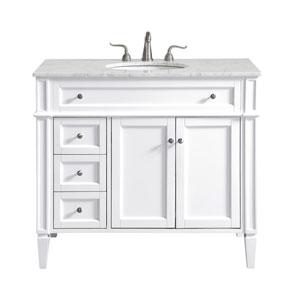 Park Avenue White 40-Inch Vanity Sink Set