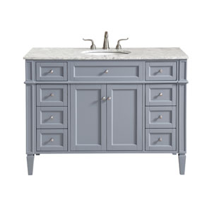 Park Avenue Gray 48-Inch Vanity Sink Set