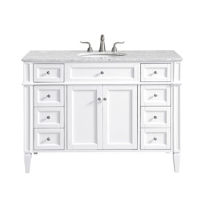 Park Avenue White 48-Inch Vanity Sink Set