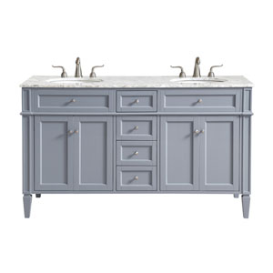 Park Avenue Gray 60-Inch Vanity Sink Set