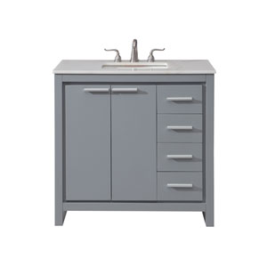 Filipo Gray 36-Inch Vanity Sink Set