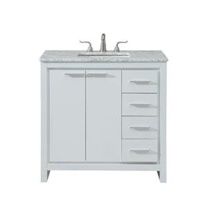 Filipo White 36-Inch Vanity Sink Set