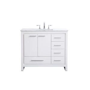 Filipo White 40-Inch Vanity Sink Set