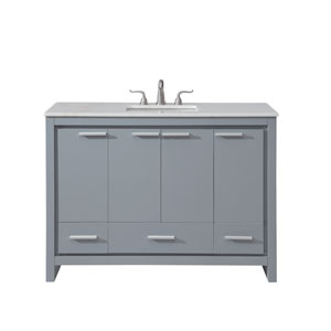 Filipo Gray 48-Inch Vanity Sink Set