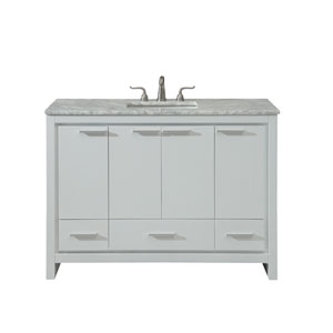 Filipo White 48-Inch Vanity Sink Set