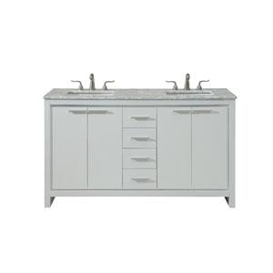Filipo White 60-Inch Vanity Sink Set