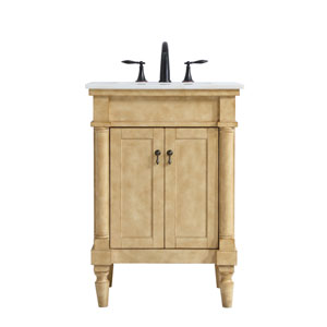 Lexington Antique Beige 24-Inch Vanity Sink Set