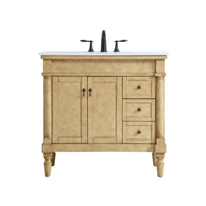Lexington Antique Beige 36-Inch Vanity Sink Set