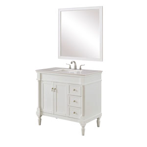 Lexington Antique White 36-Inch Vanity Sink Set