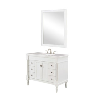 Lexington Antique White 42-Inch Vanity Sink Set