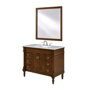 Lexington Walnut 42-Inch Vanity Sink Set