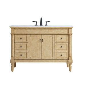Lexington Antique Beige 48-Inch Vanity Sink Set