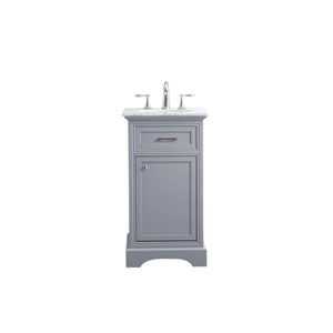 Americana Light Gray 19-Inch Vanity Sink Set