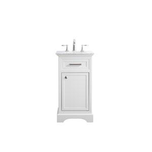 Americana White 19-Inch Vanity Sink Set
