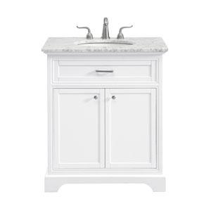 Americana White 30-Inch Vanity Sink Set