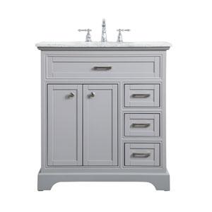 Aaron Gray 32-Inch Vanity Sink Set