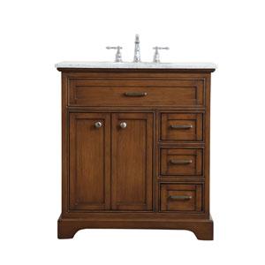 Aaron Teak 32-Inch Vanity Sink Set