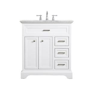 Aaron White 32-Inch Vanity Sink Set