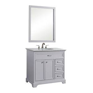 Americana Light Gray 36-Inch Vanity Sink Set