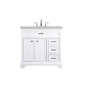 Americana White 36-Inch Vanity Sink Set