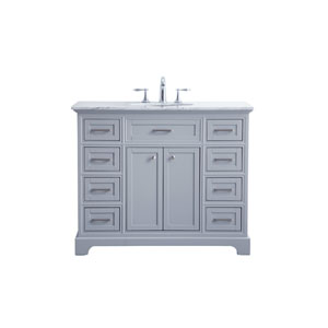 Americana Light Gray 42-Inch Vanity Sink Set