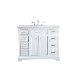 Americana White 42-Inch Vanity Sink Set