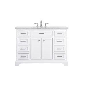 Americana White 48-Inch Vanity Sink Set